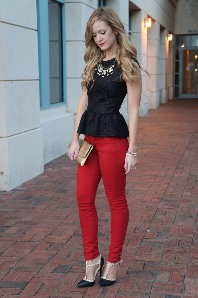 Orlando Red Jeans Blogger | Upbeat Soles | Orlando Florida Fashion ...