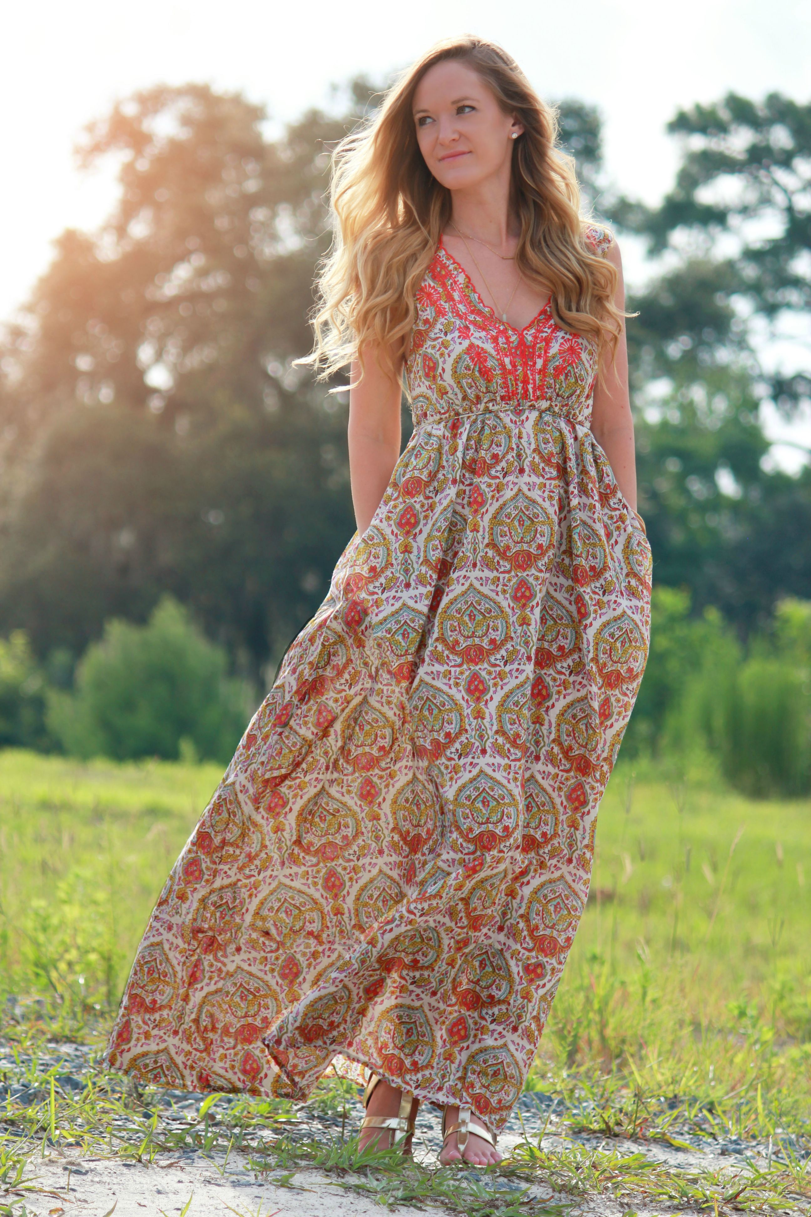 Boho Maxi Dress Pattern Eshakti Dress Patterned Maxi