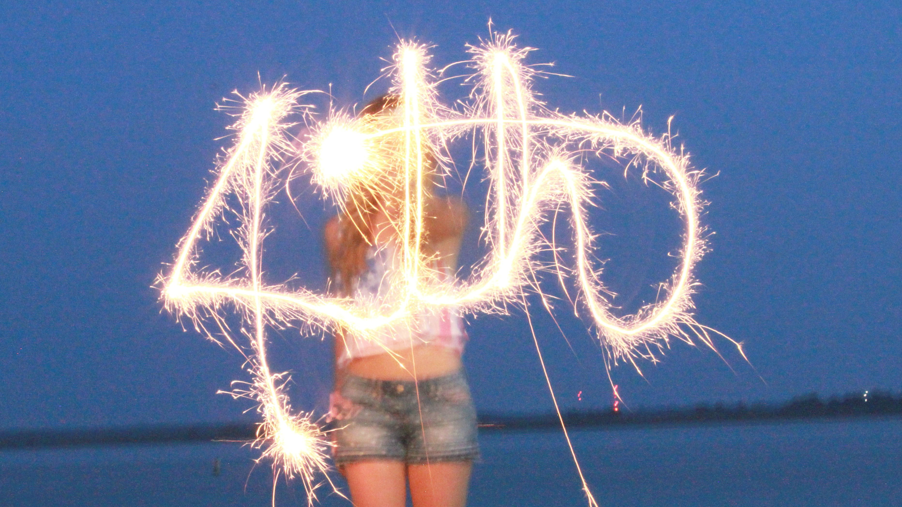 sparkler photography, fourth of july