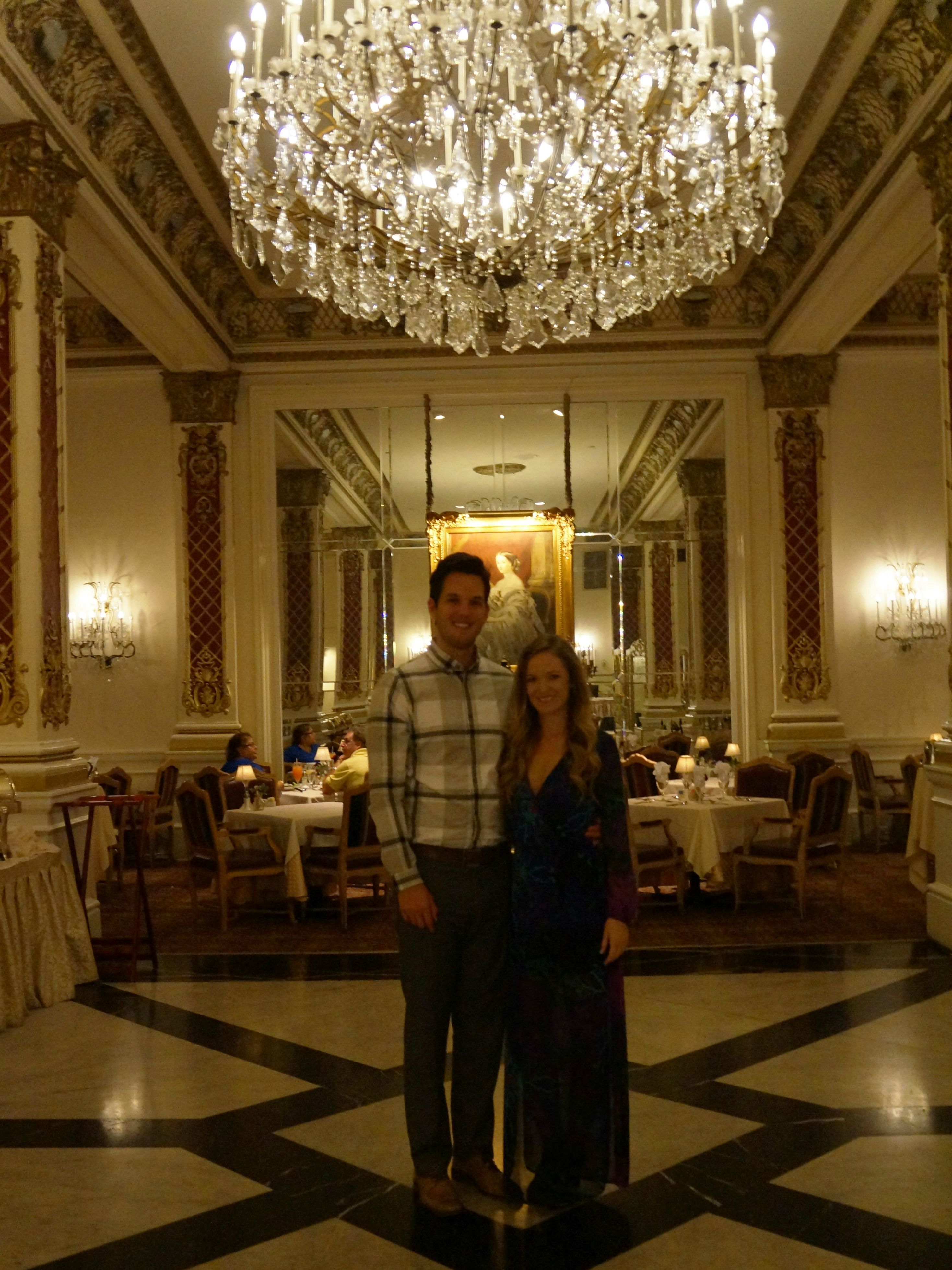 crystal room, new orleans, sophie and trey maxi, date night outfit