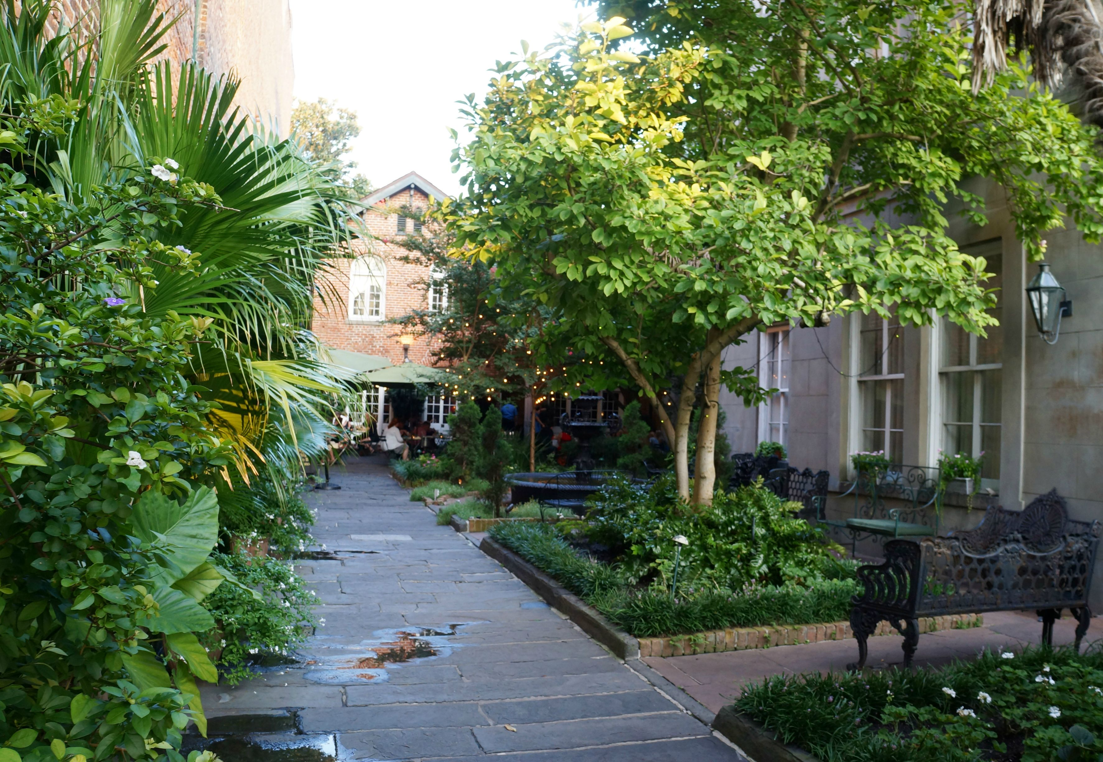 cafe amelie, new orleans, courtyard dining