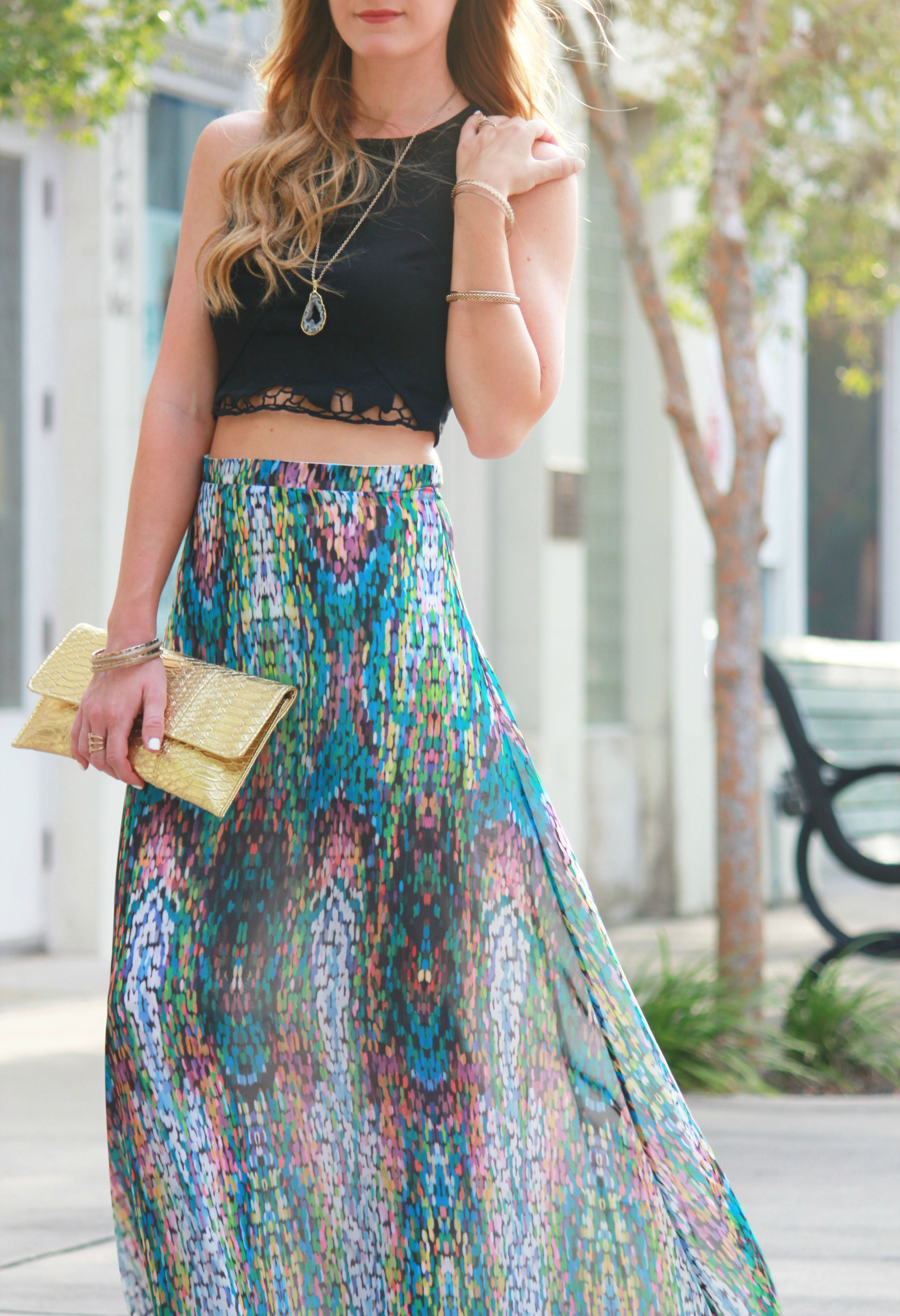 shabby apple skirt, gb crop top, lace crop top, mosaic print skirt, maxi skirt and crop top, maxi skirt outfit, summer outfit, date night outfi