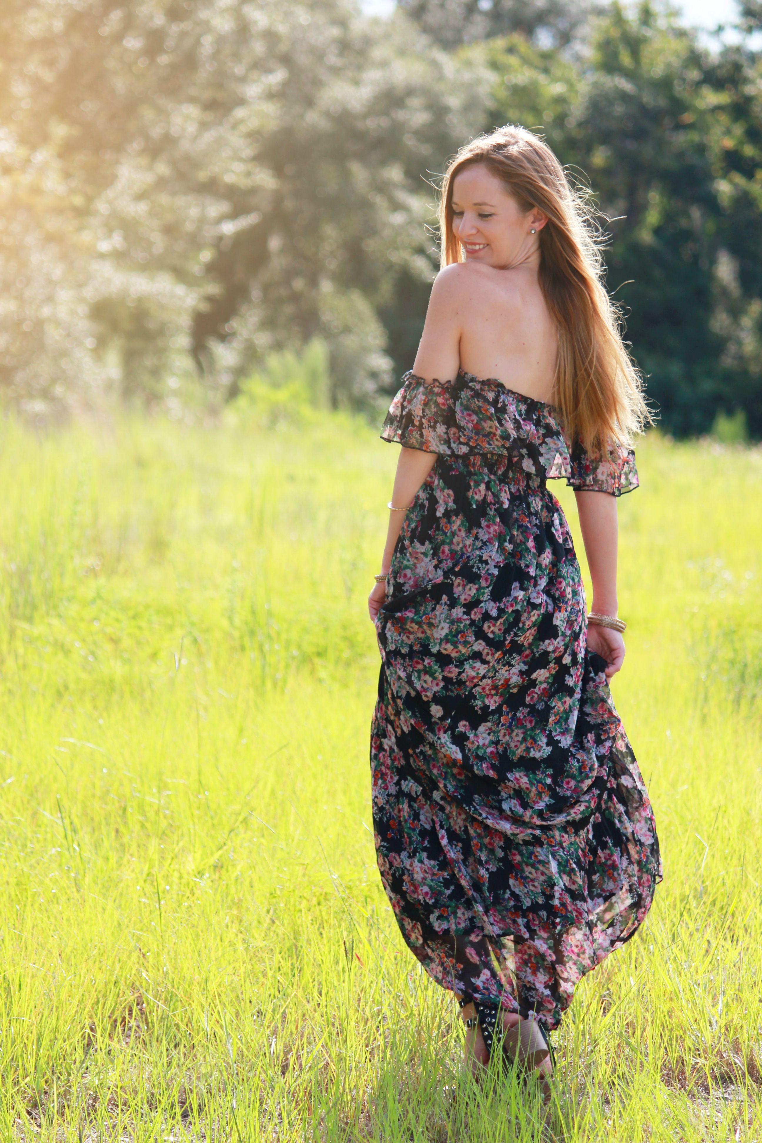 ami clubwear dress, floral maxi dress, casual summer outfit, Summer maki dress