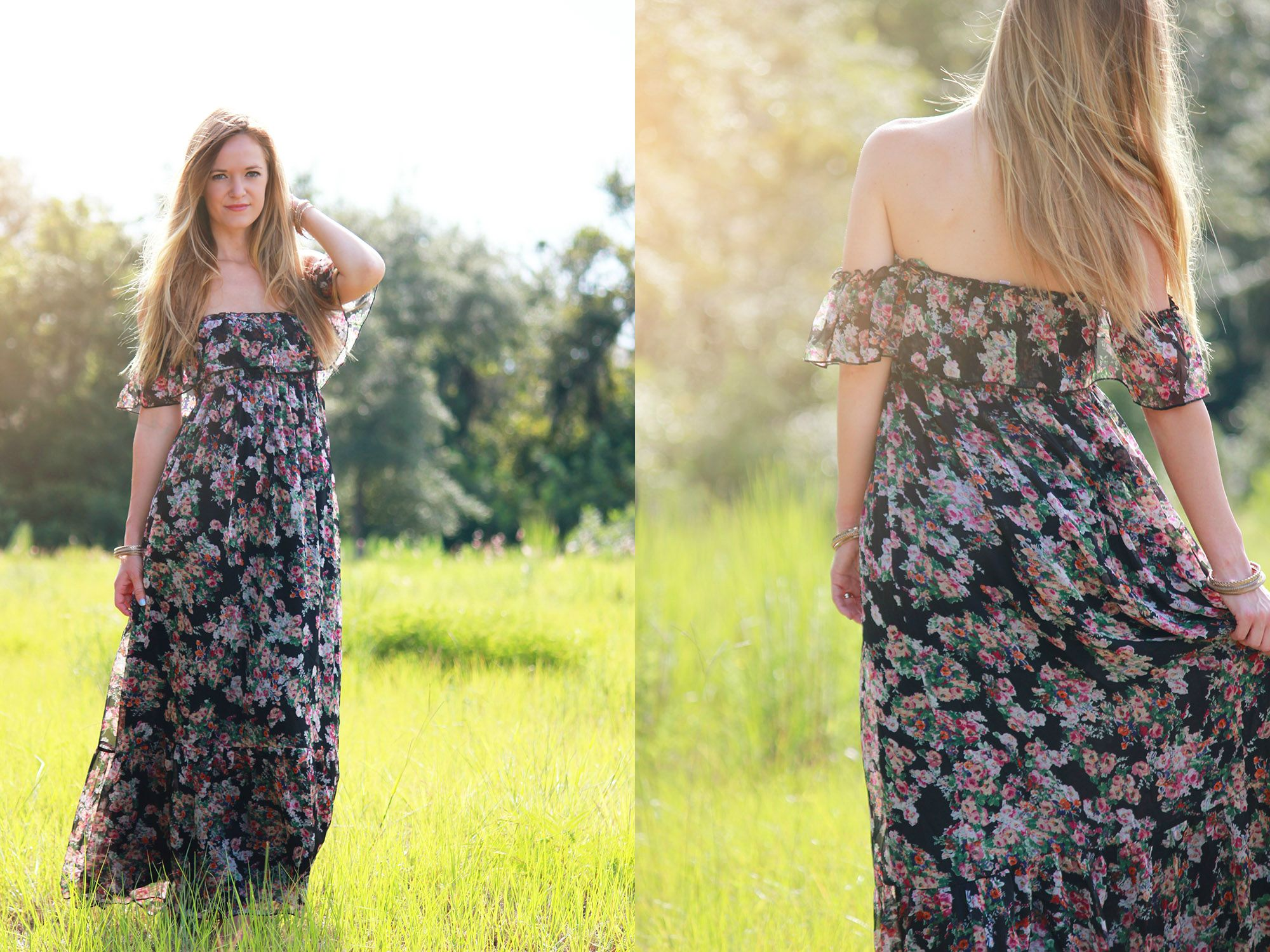 ami clubwear dress, floral maxi dress, casual summer outfit, Summer maki dress