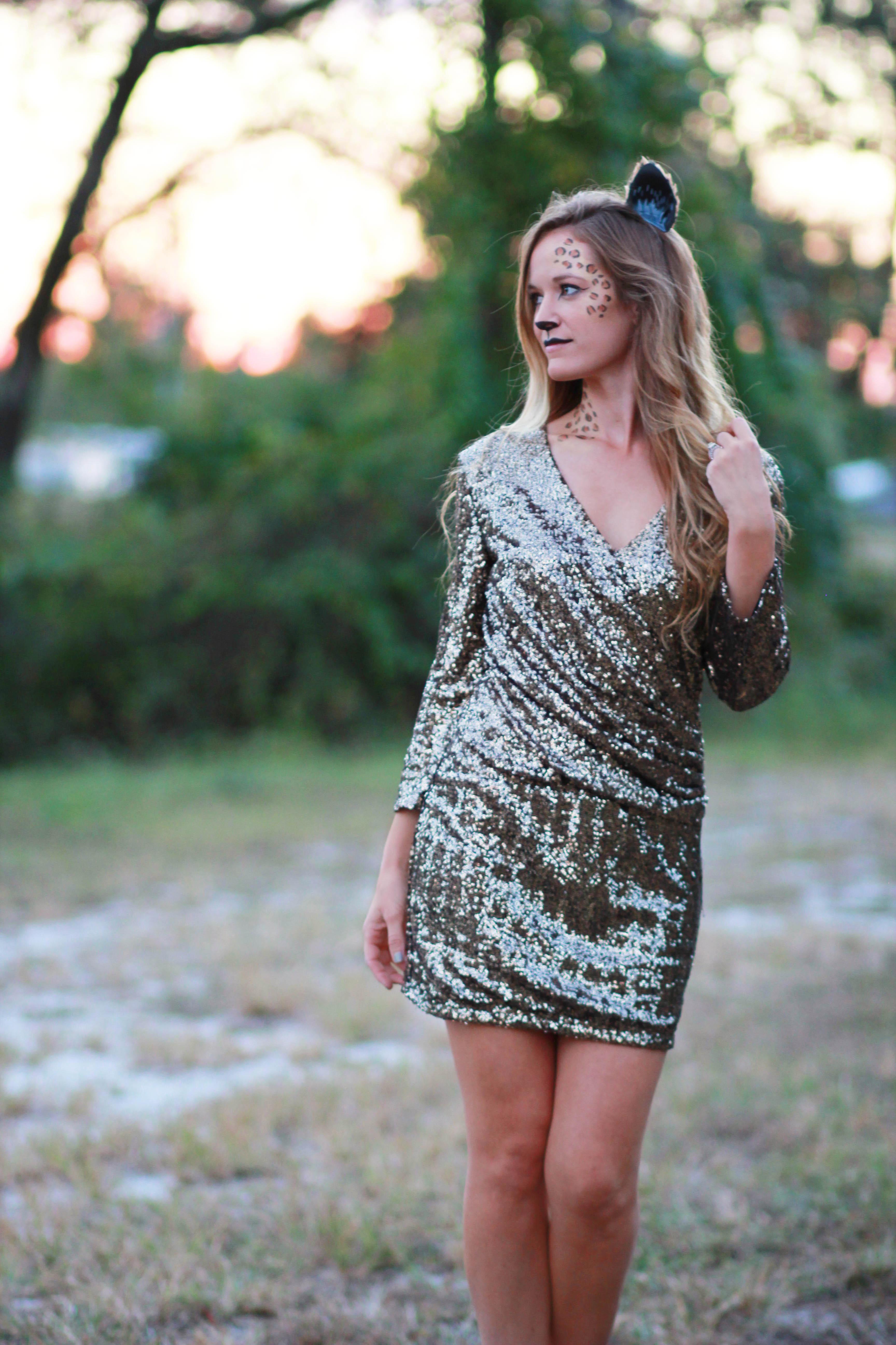 florida fashion blogger last minute cheetah halloween costume