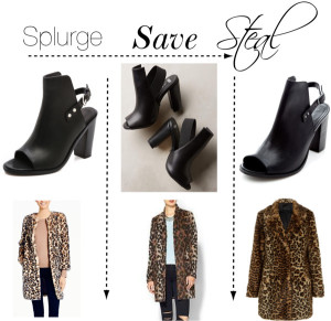 rag and bone wyatt booties look for less and kate spade leopard coat look for less