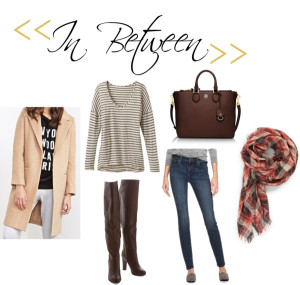 forever 21 camel coat, modcloth over the knee boots