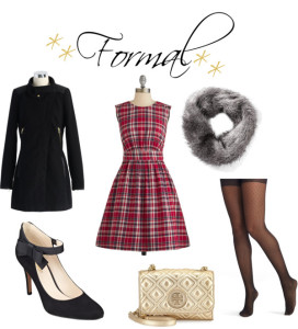 fur scarf, tartan, dress gold tory burch crossbody