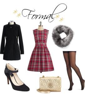 fur scarf, tartan, dress gold tory burch crossbody