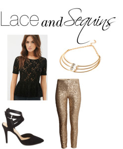 Lace and Sequins
