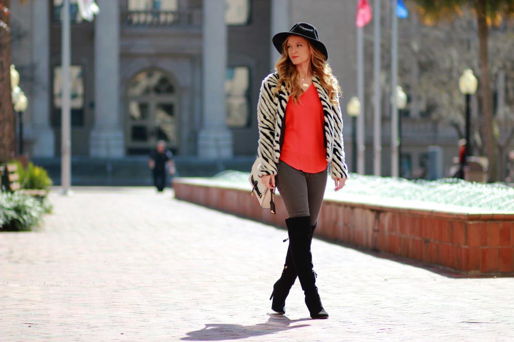 h&m fur coat