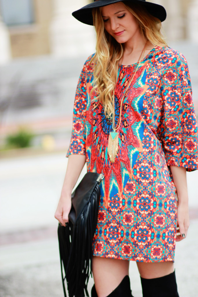 Colorful spring dress