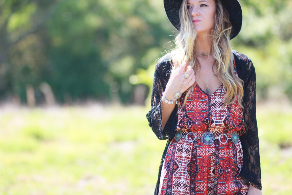 festival inspired outfit