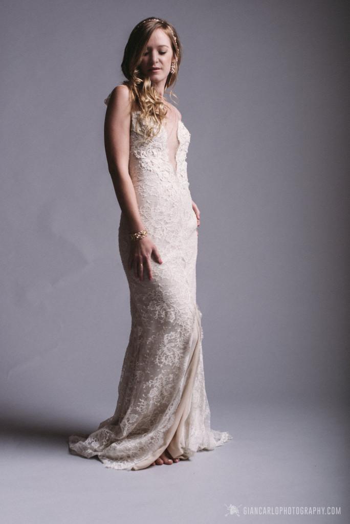 Ines Di Santo wedding dress, Maria Elena accessories