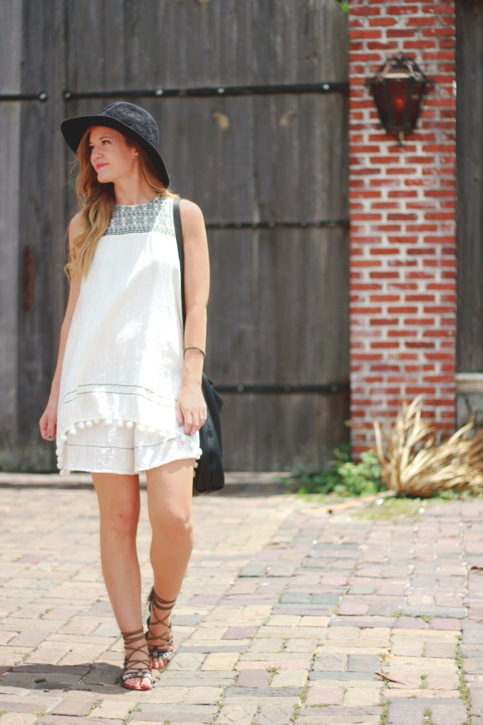 SheIn boho dress, Forever 21 gladiator sandals