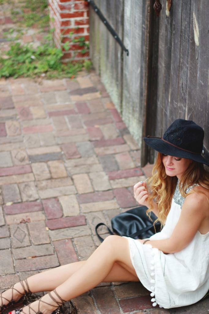 SheIn boho dress, Forever 21 gladiator sandals