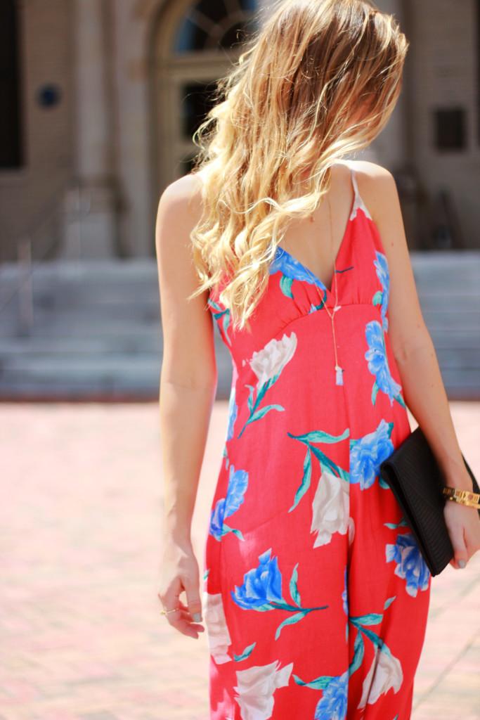 forever 21 floral culotte jumpsuit, Steve Madden lace up heels