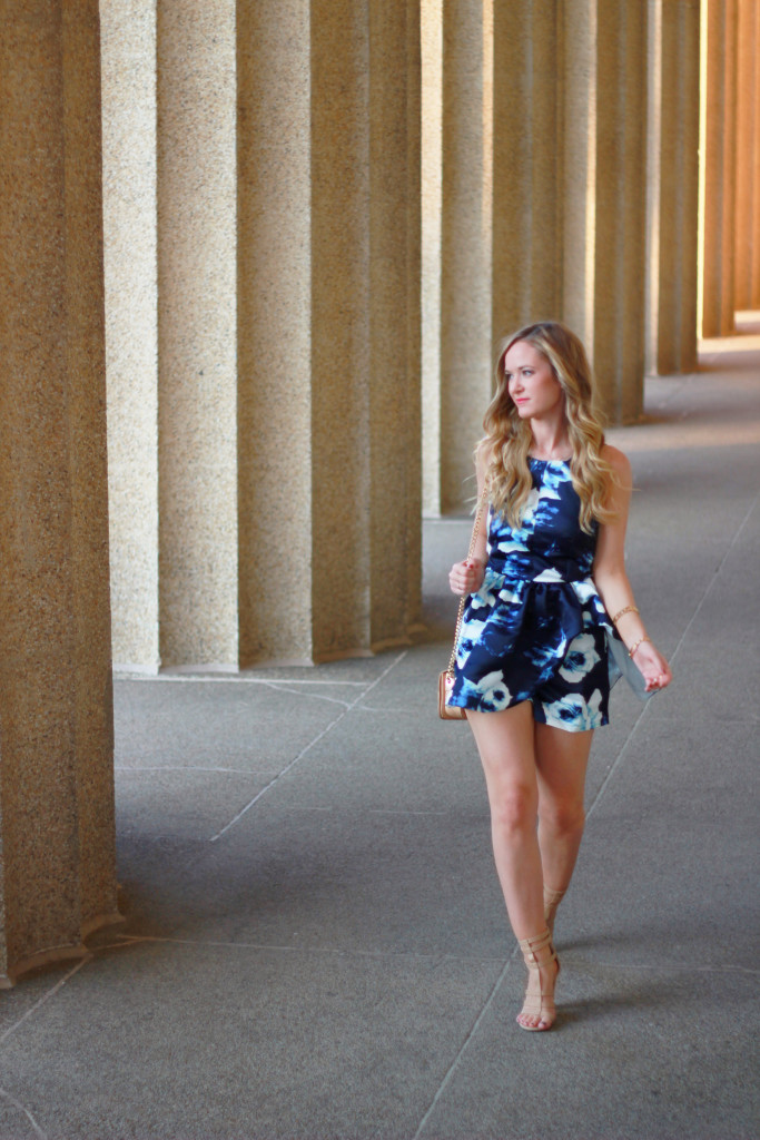 peplum floral romper, date night outfit