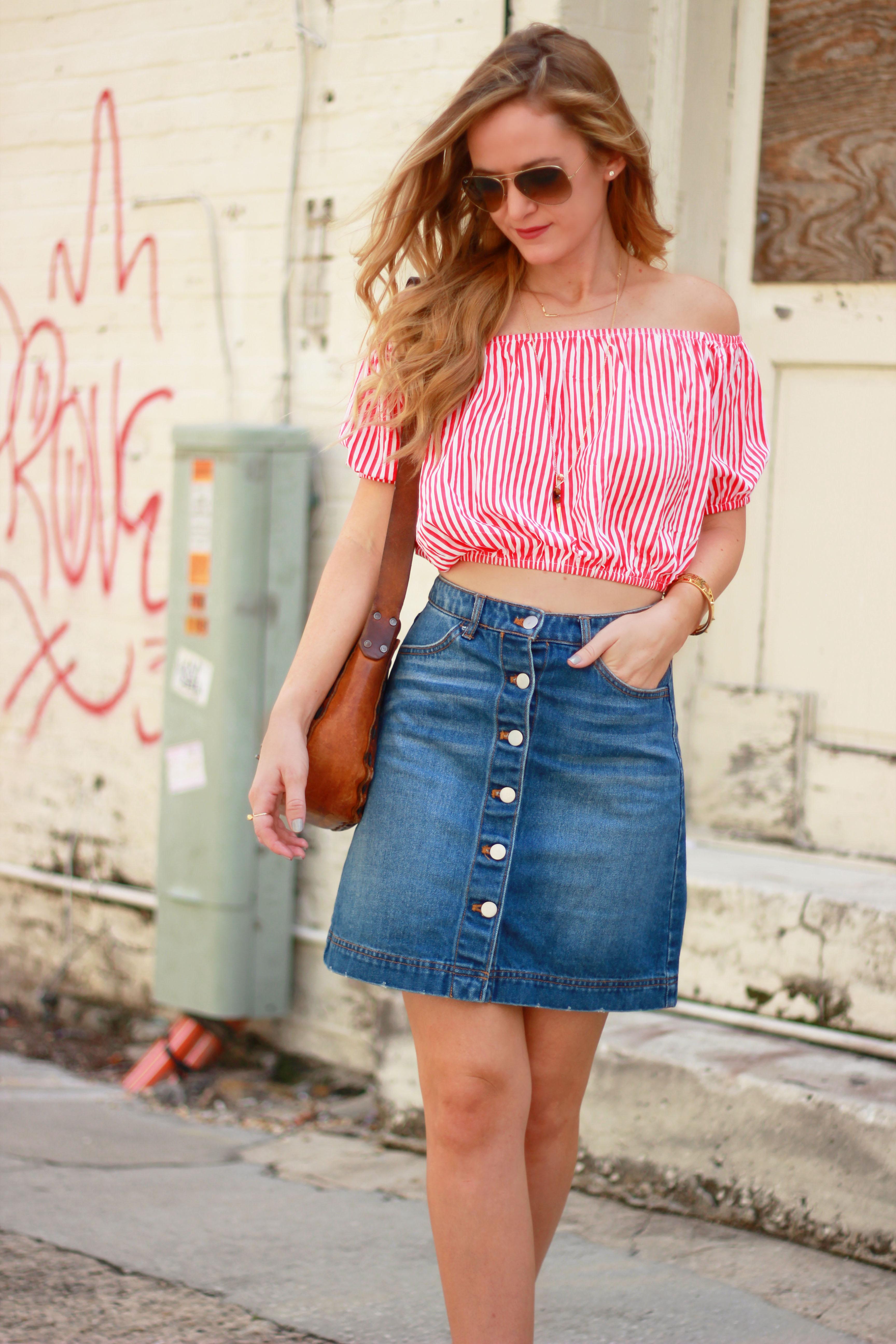 a9e27fd2c9 Denim Skirt And Top – DACC