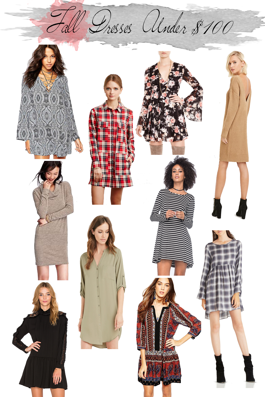 Fall Dresses Under 100