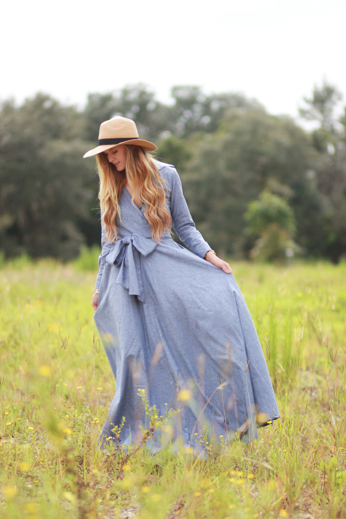 Shabby Apple Chambray Maxi Dress