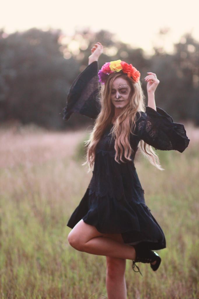 last minute sugar skull costume