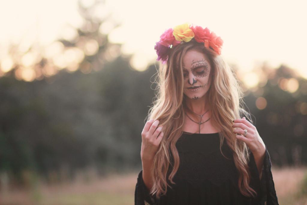 Easy sugar skull costume