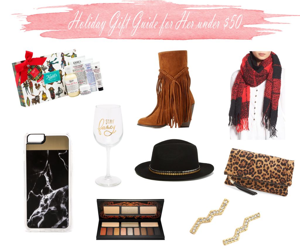 Holiday gift guide for her under 50 dollars