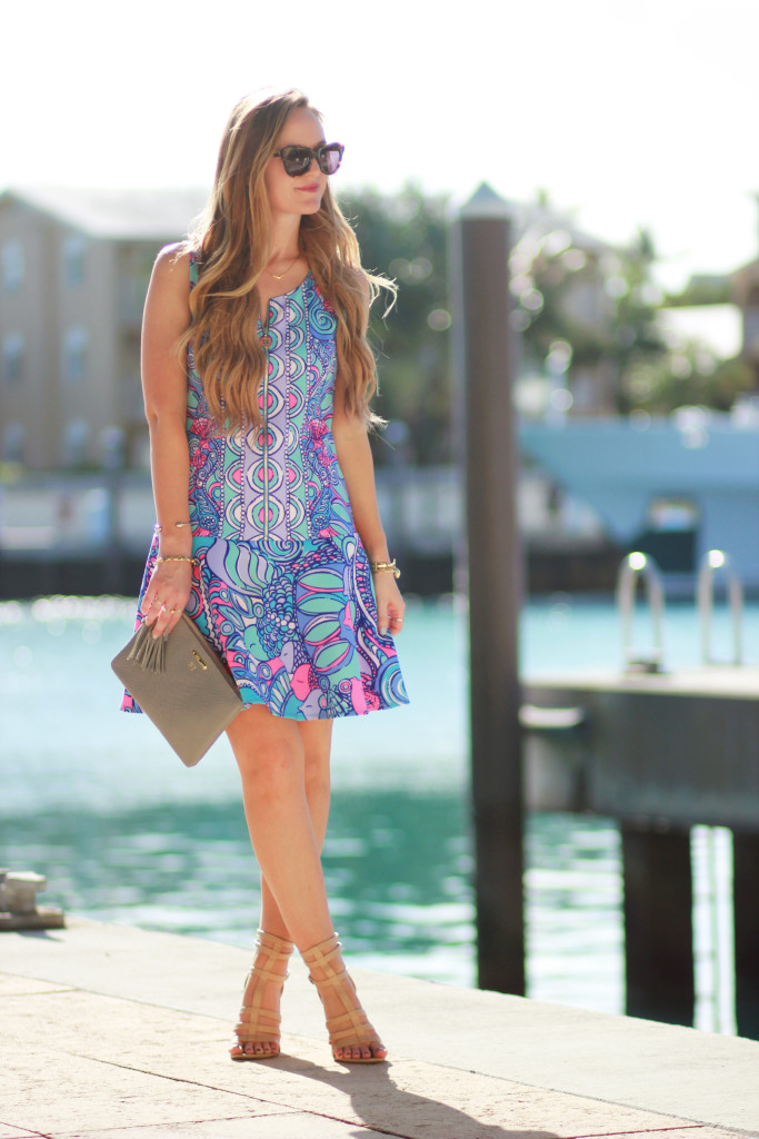 Lilly Pulitzer Melia dress and Karen Walker Number one