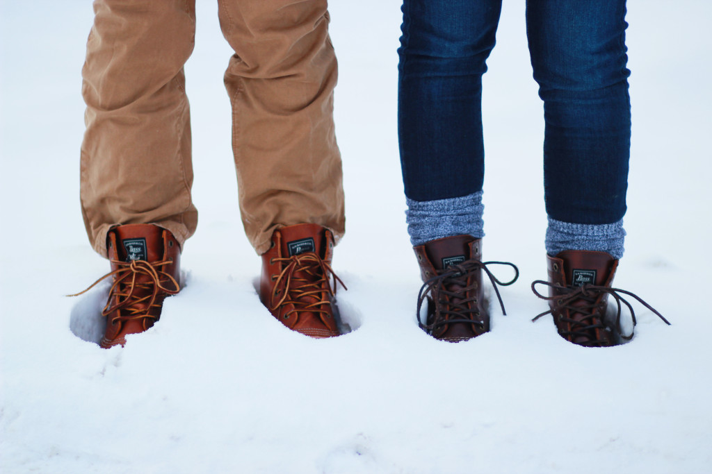 his and her winter outfits, Bass duck boots
