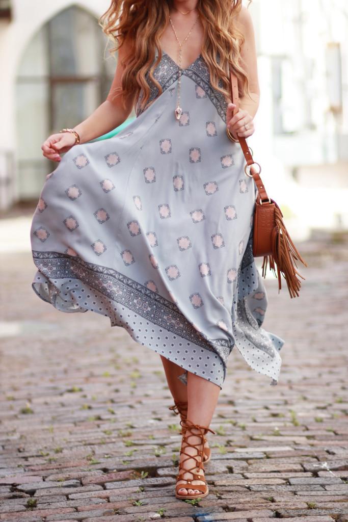 Handkerchief Maxi Dress Upbeat Soles Florida Fashion Blog