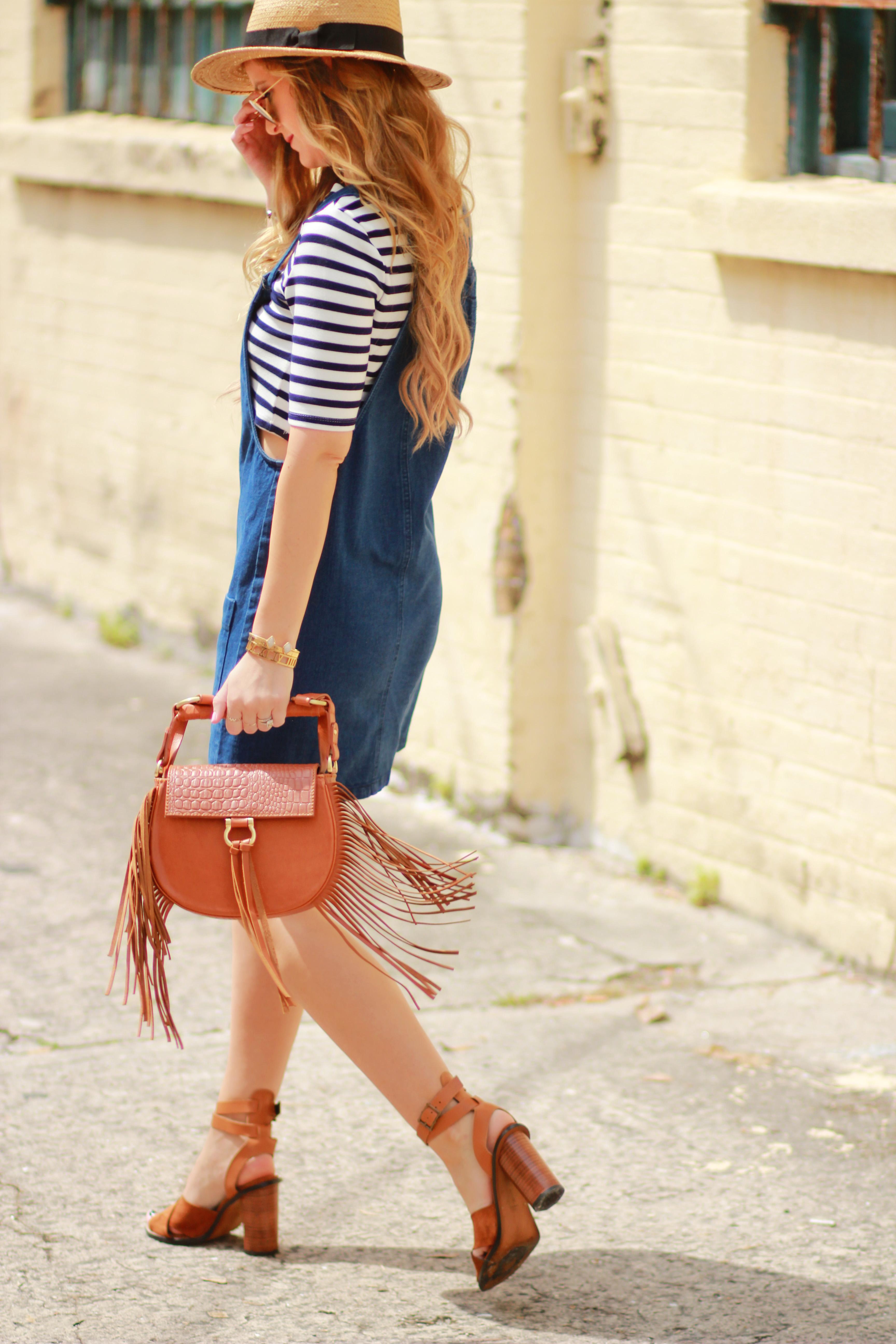 Denim u0026 Stripe Outfit | Upbeat Soles | Orlando Florida ...