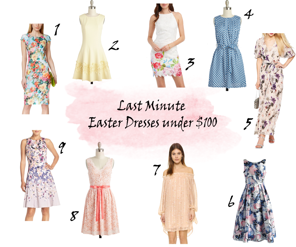 Last minute Easter dresses under $100, Floral and pastel Easter dresses