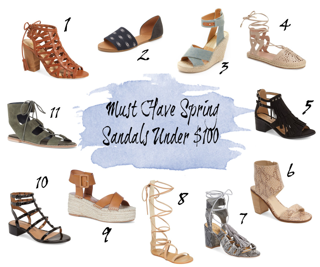 must have spring sandals under $100