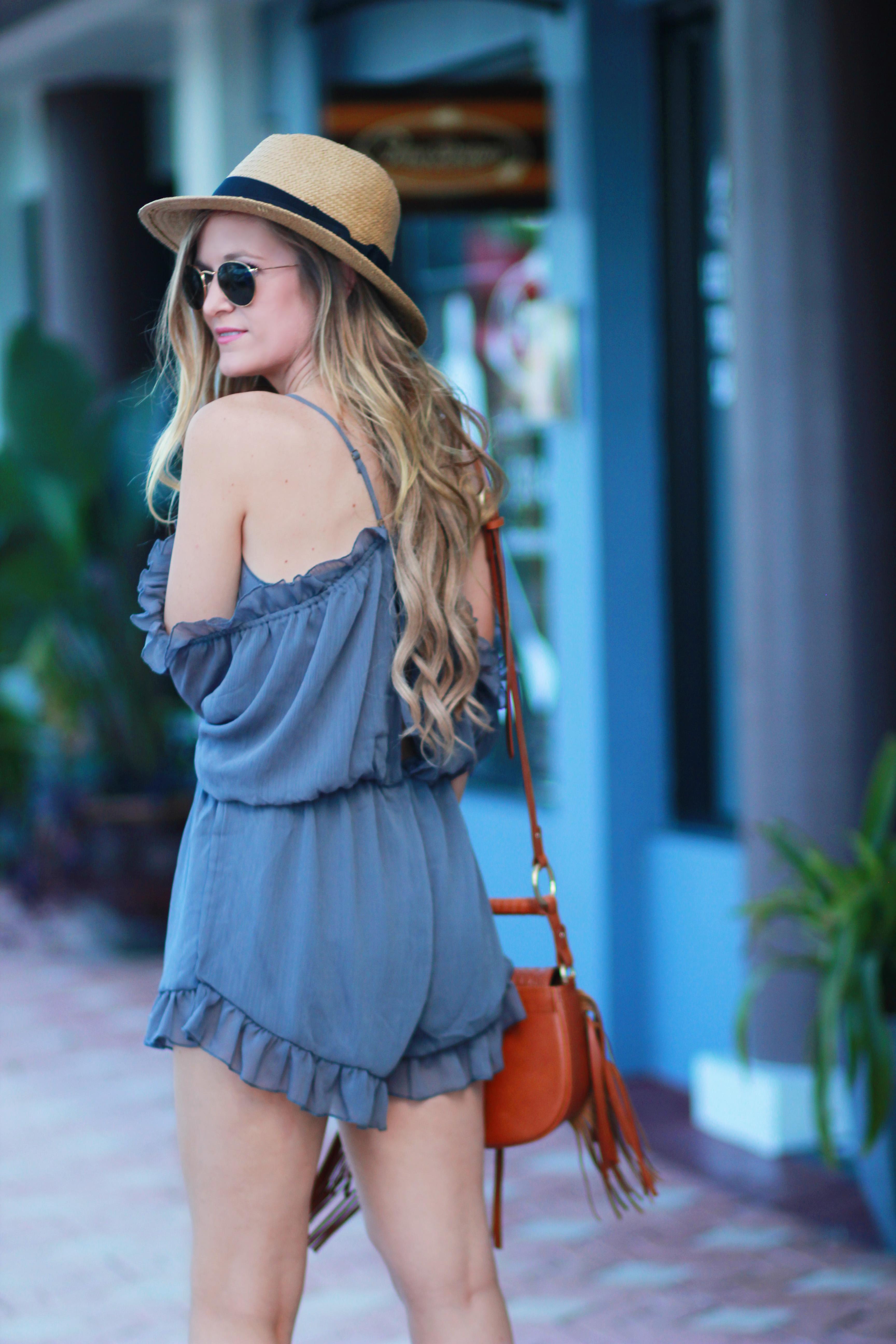 Off The Shoulder Romper | Upbeat Soles | Florida Fashion Blog