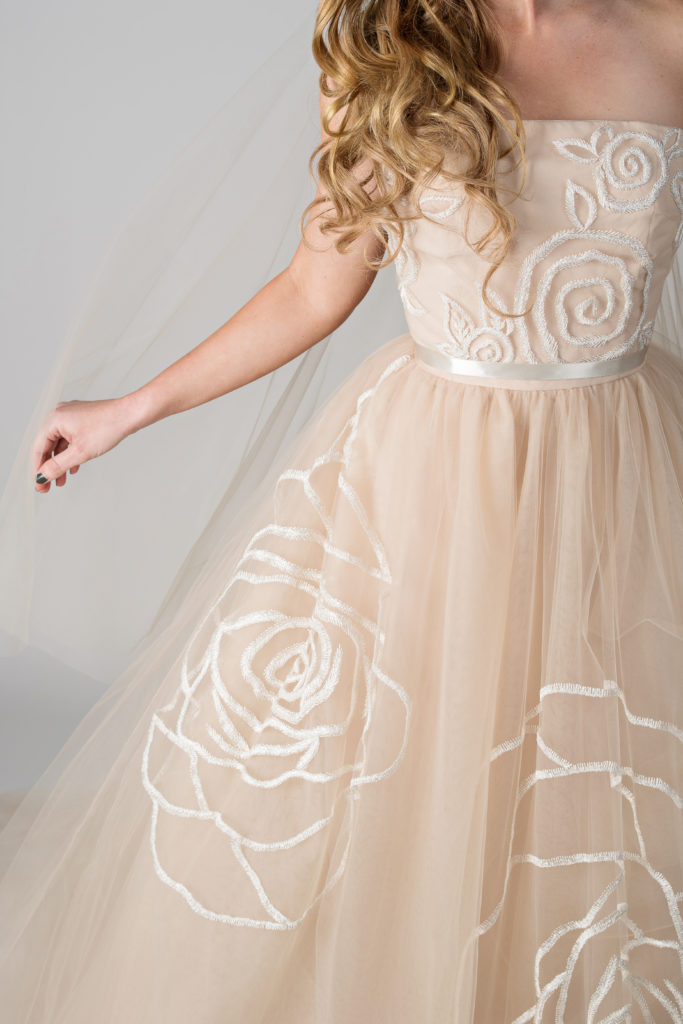 Jim Hjelm by Hayley Paige wedding gown