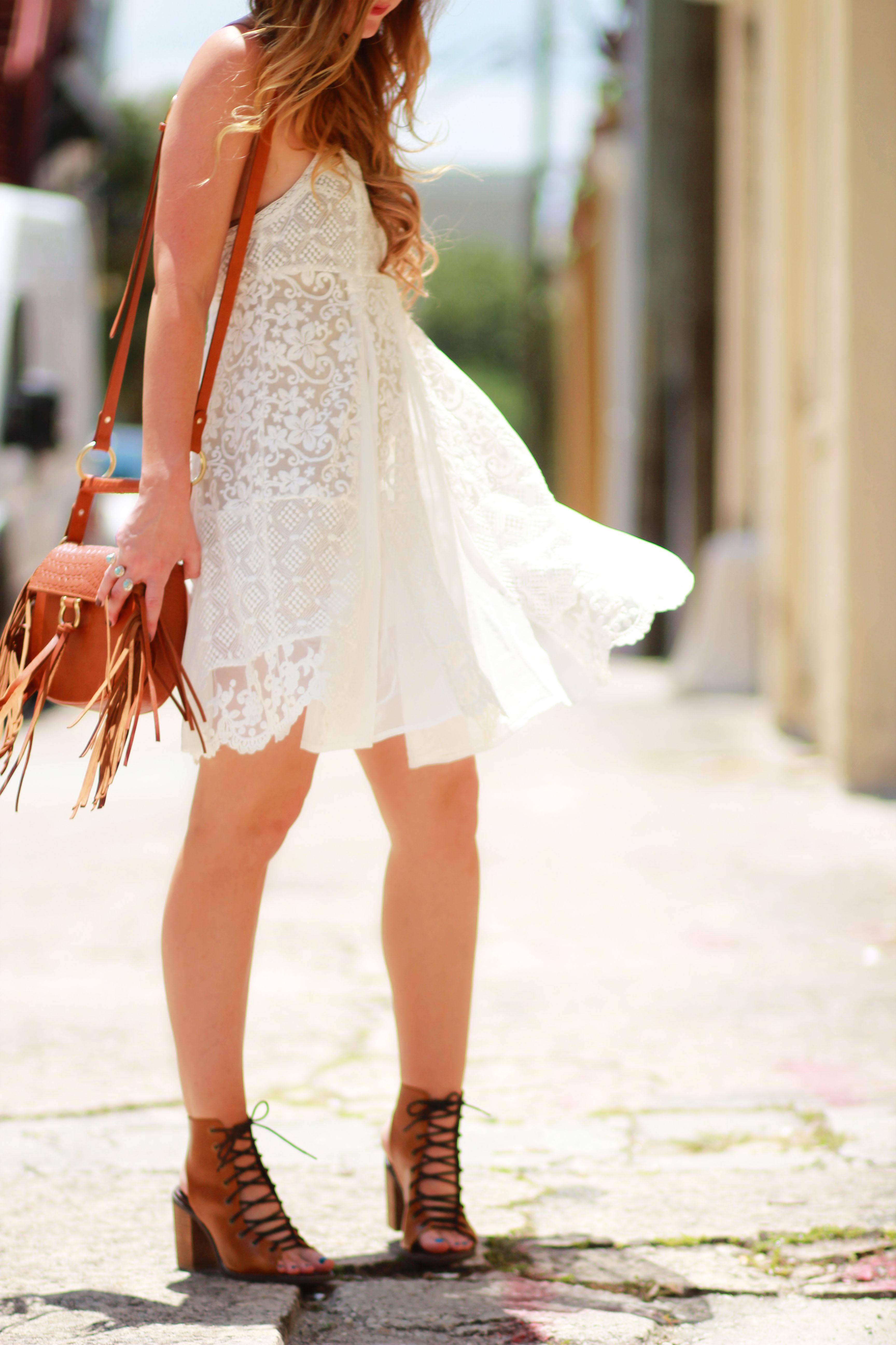 Boho Lace Dress Upbeat Soles Orlando Florida Fashion Blog