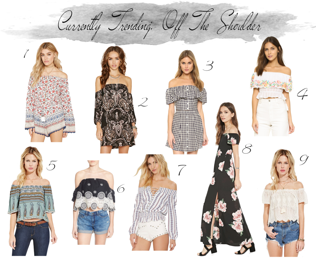 Must have off the shoulder tops and dresses for summer vacation