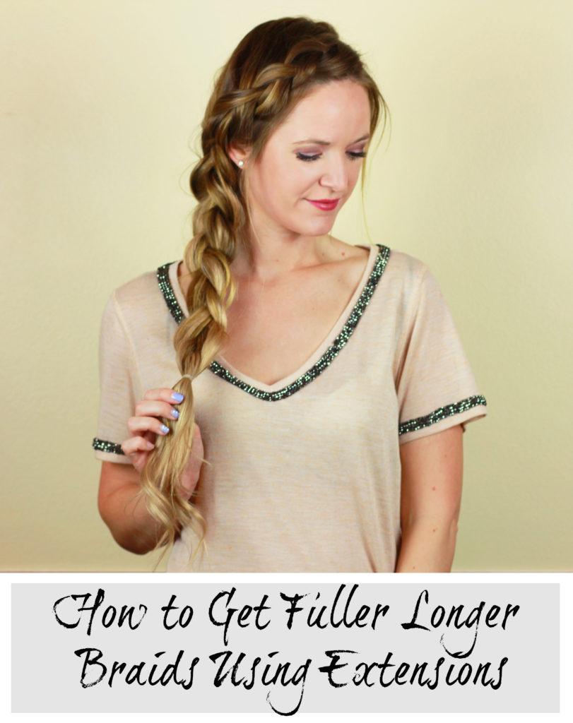 Orlando Florida fashion blog does a side dutch braid tutorial using Bellami hair extensions to get a fuller longer braid