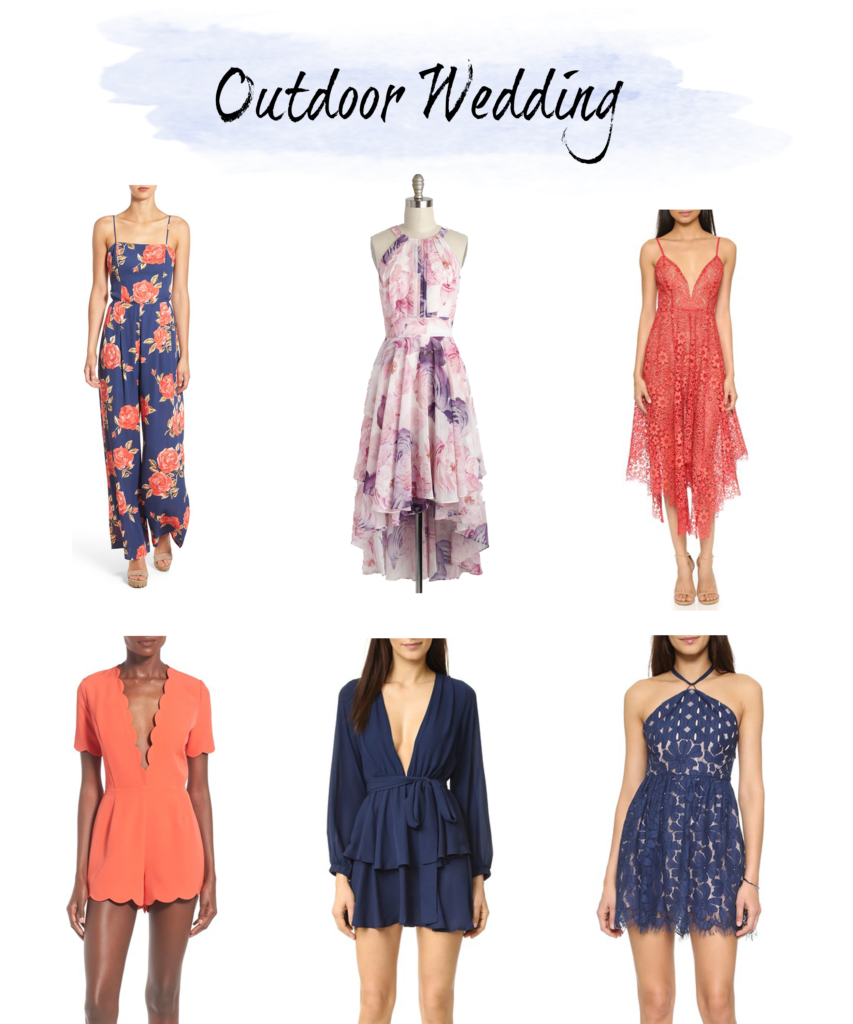 What to wear to an outdoor wedding