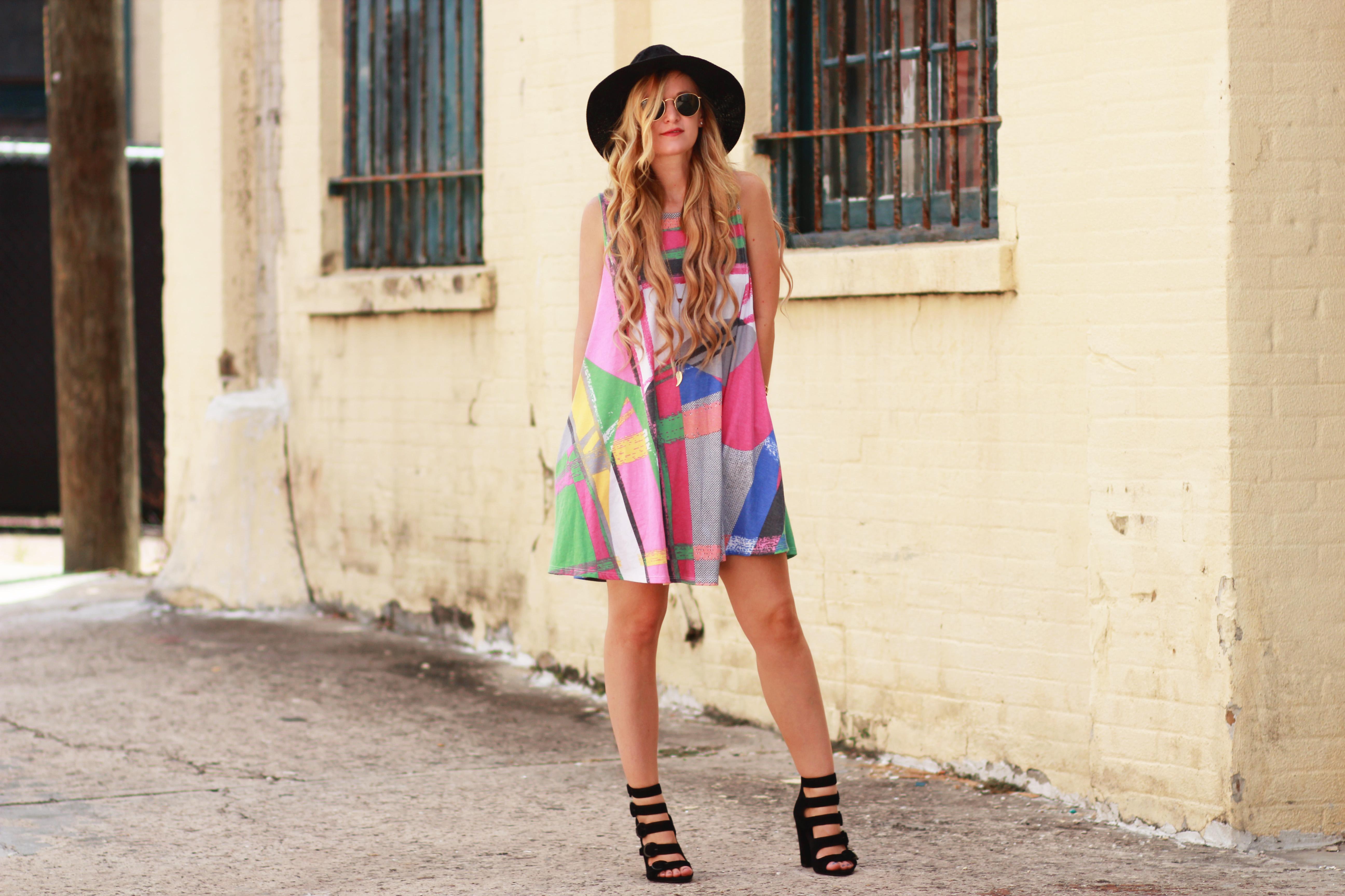 Mosaic Swing Dress | Upbeat Soles | Orlando Florida Fashion Blog