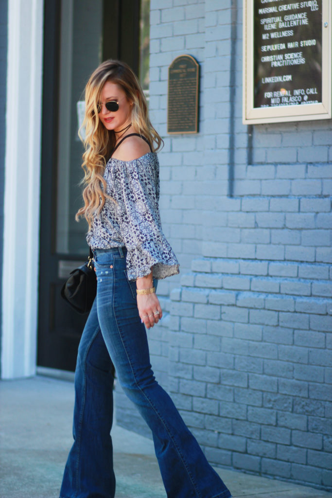 Flared Jean Outfit | Upbeat Soles | Orlando Florida Fashion Blog