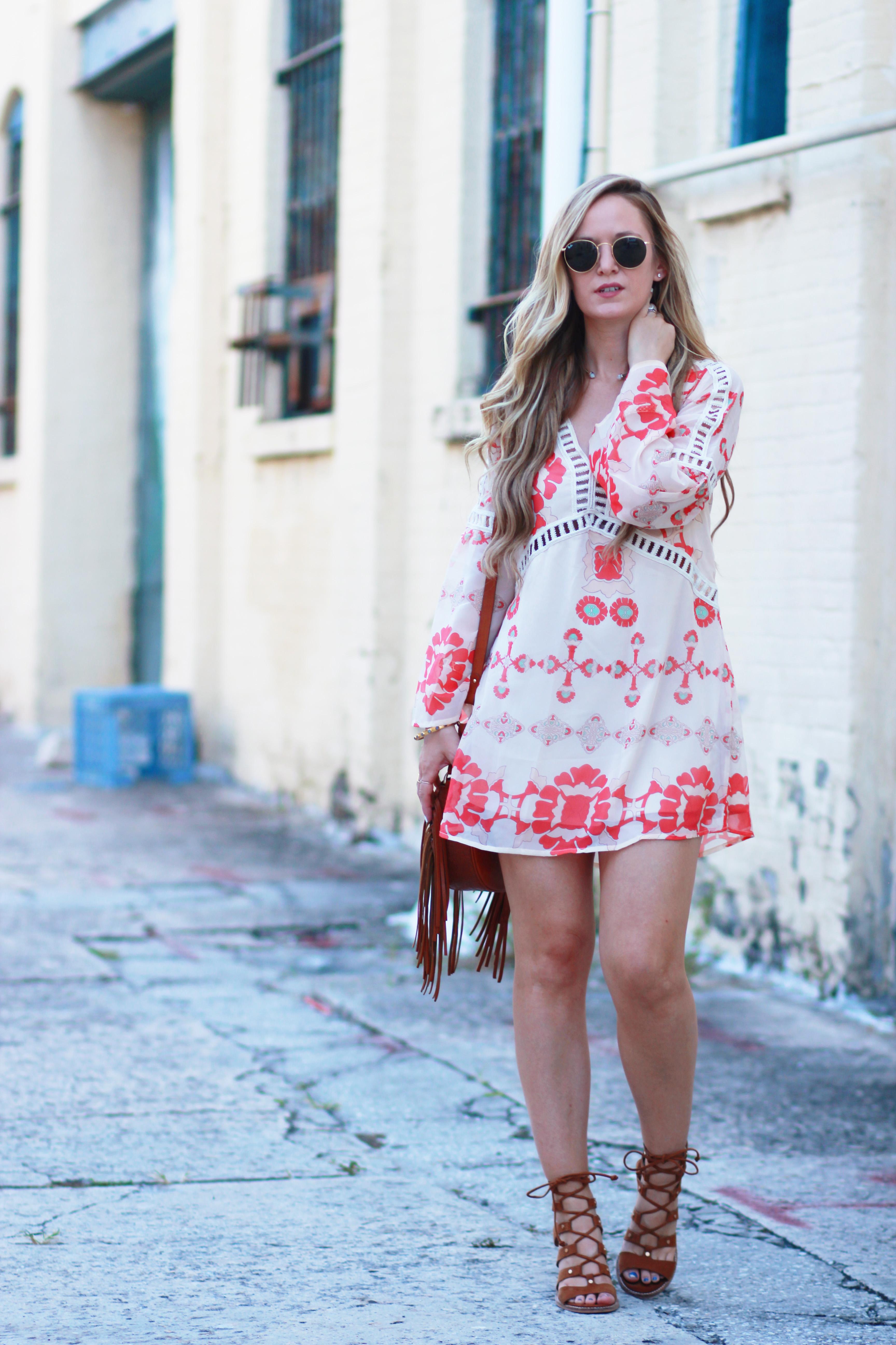 Bell Sleeve Bohemian Dress | Upbeat Soles | Orlando Florida