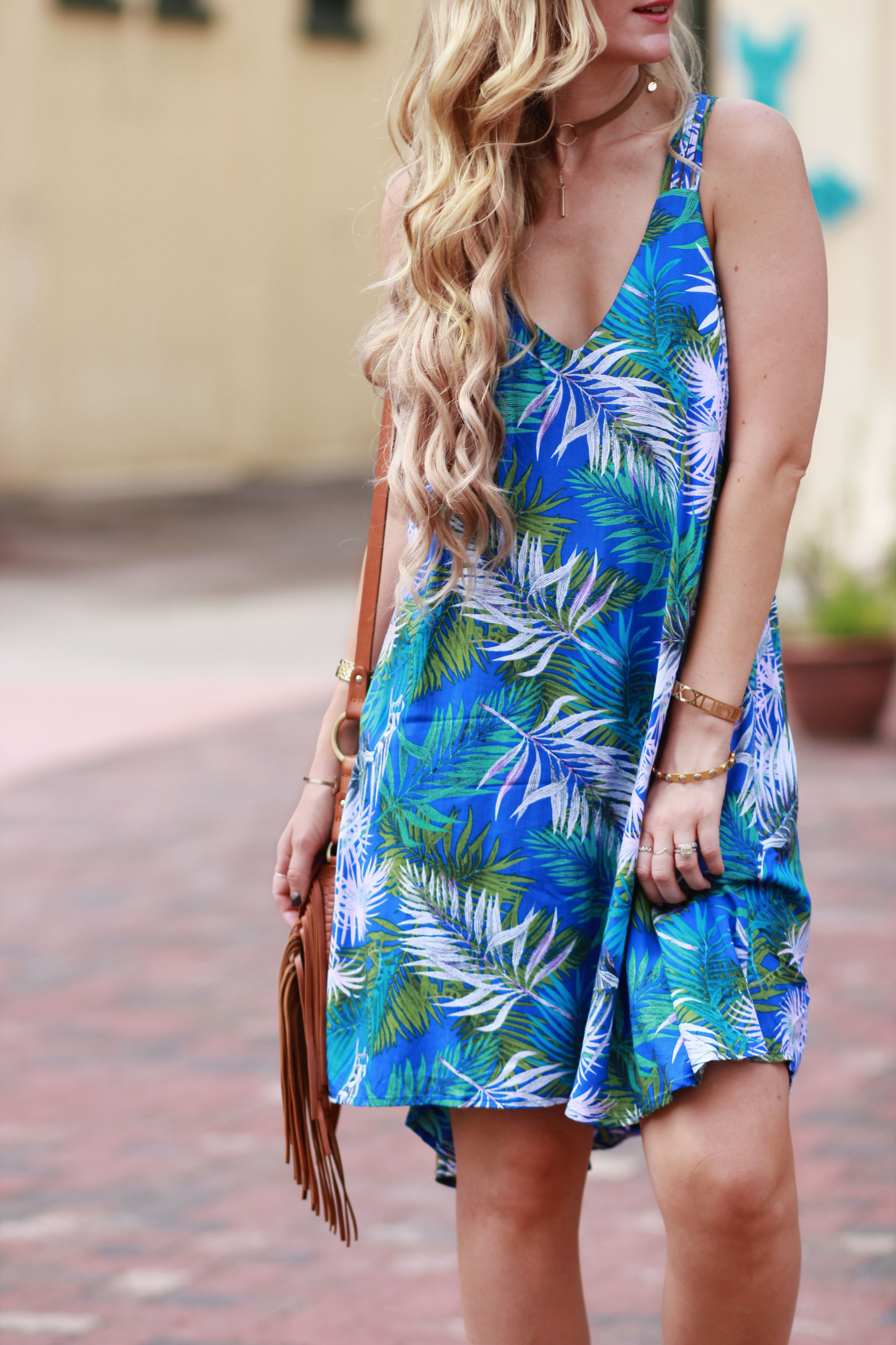Palm Print Dress | Upbeat Soles | Orlando Florida Fashion Blog