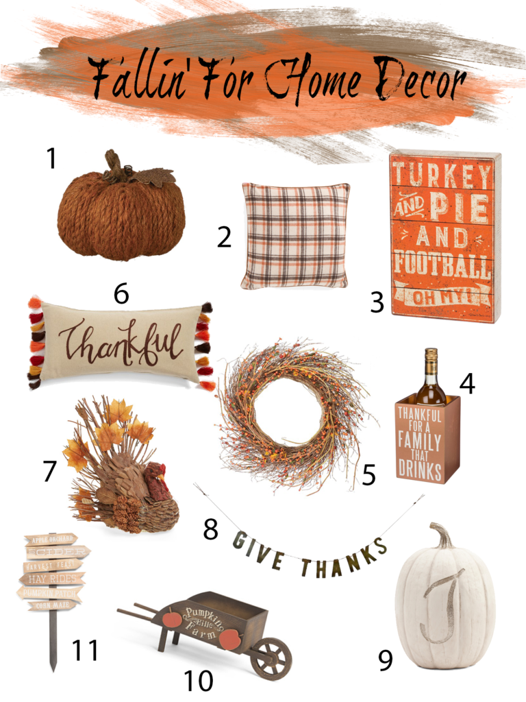 Shannon Jenkins of Upbeat Soles features her favorite picks for fall home decor ideas 2016