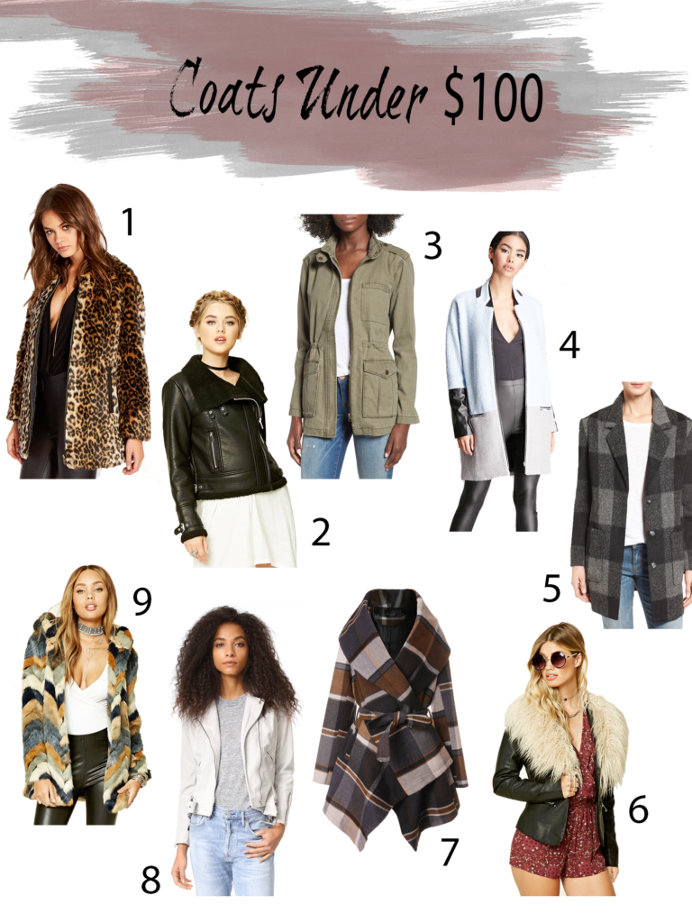 fall and winter coats under $100