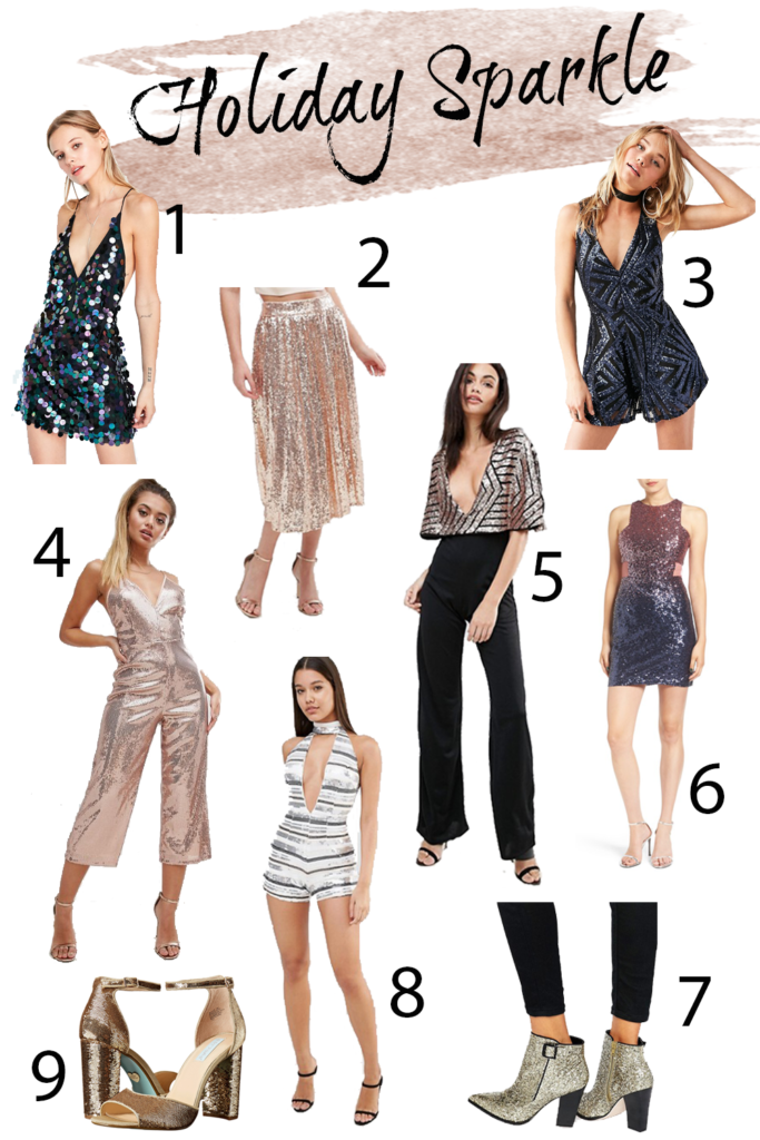 Shannon Jenkins of Upbeat Soles talks New Years outfit ideas and where to buy the perfect sequin dress, romper, and skirt.