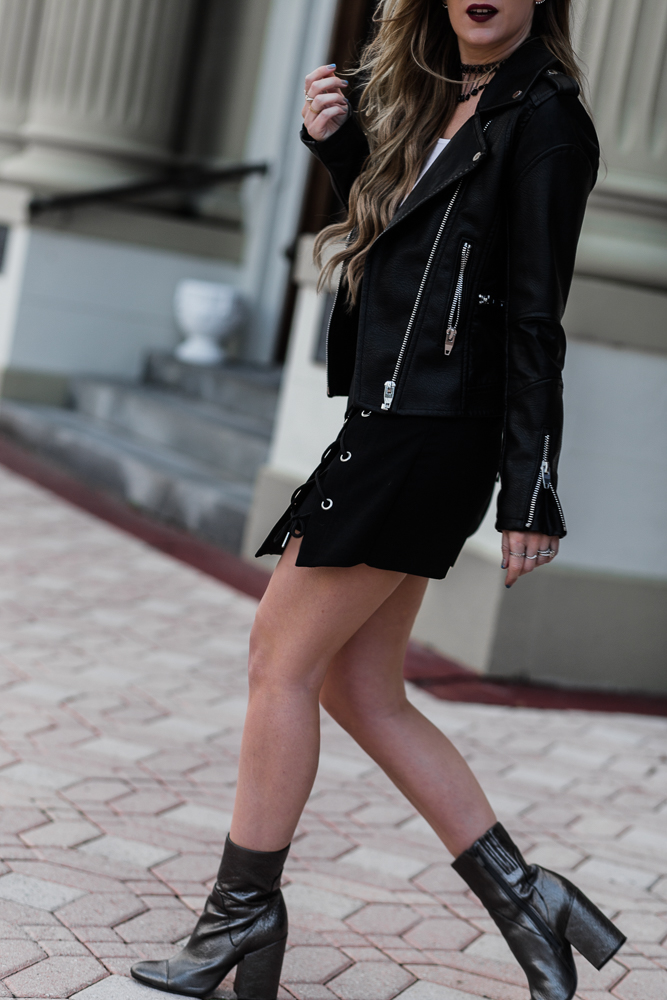 Edgy Valentines Day Outfit | Upbeat Soles | Orlando Florida Fashion Blog