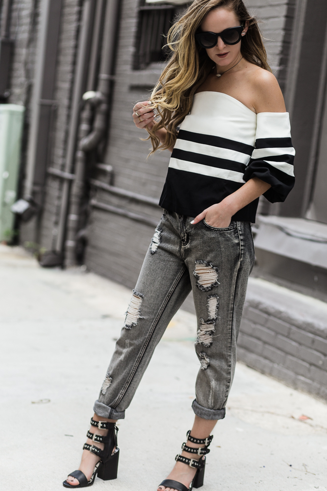 Edgy Black And White Outfit | Upbeat Soles | Orlando Florida Fashion Blog