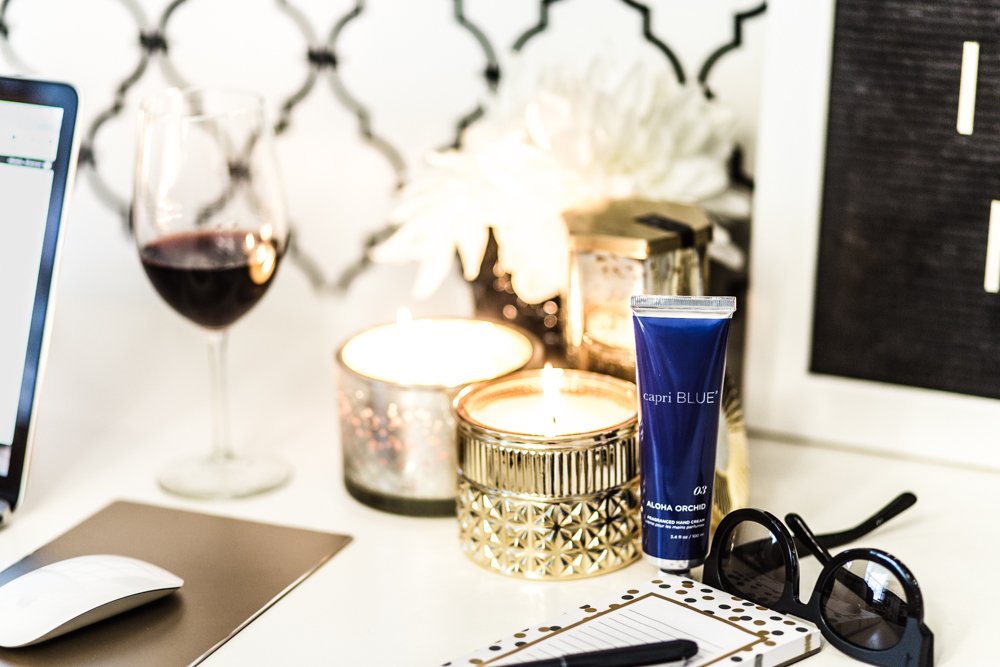 Shannon Jenkins of Upbeat Soles does a Capri Blue Candle review and talks about all the different scents and how they help her relax after a long day